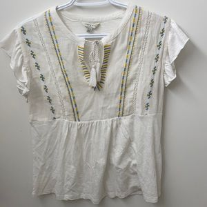 Lucky Brand baby doll shirt with a front tie